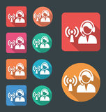 Dispatch center icon Stock Photos