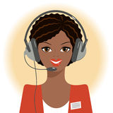 Dispatcher afro Royalty Free Stock Photo