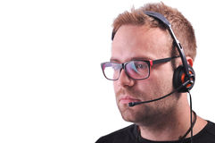 Dispatcher with glasses Royalty Free Stock Photography