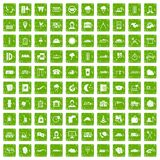 100 dispatcher icons set grunge green. 100 dispatcher icons set in grunge style green color isolated on white background vector illustration Stock Photos