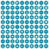 100 dispatcher icons sapphirine violet. 100 dispatcher icons set in sapphirine hexagon isolated vector illustration vector illustration
