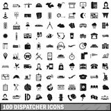 100 dispatcher icons set, simple style. 100 dispatcher icons set in simple style for any design vector illustration royalty free illustration