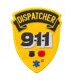 Dispatcher 911 Patch. Nine Eleven Dispatcher Patch Isolated on White Background stock image