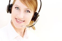 Dispatching girl Stock Images