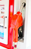 Dispensador de gasolina y aceite de la gasolina Fotografía de archivo