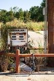 Dispensador decaído de la gasolina Fotografía de archivo libre de regalías