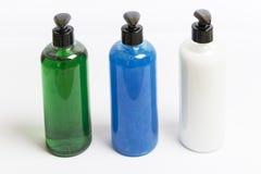Dispensadores del jabón del grupo tres Imagen de archivo libre de regalías
