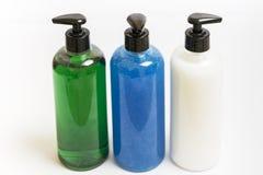 Dispensadores del jabón del grupo tres Imagenes de archivo