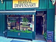 Dispensario herbario en Toronto Imagen de archivo libre de regalías