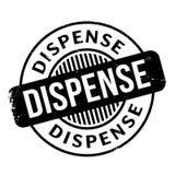 Dispense rubber stamp Stock Photo