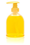 Dispenser bottle of liquid soap. Royalty Free Stock Image