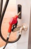Dispensing fuel. Stock Photos