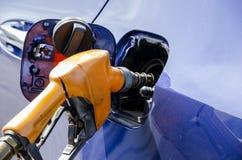 Dispensing Gasohol E20. Royalty Free Stock Photos