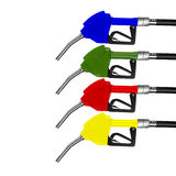 Dispensing petrol in many colors. Royalty Free Stock Photos