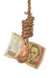 Disperato finanziario di economico ucraino Fotografia Stock