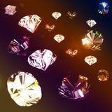 Dispersão das jóias ilustração stock