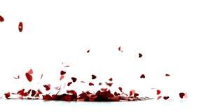 Dispersão dos confetes do coração vídeos de arquivo
