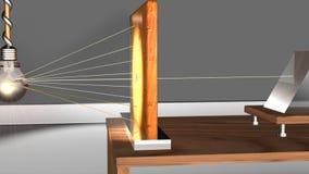Dispersión de la luz por las prismas stock de ilustración