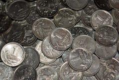 Dispersión de las monedas rusas Fotos de archivo libres de regalías