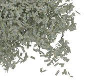 Dispersión del dinero. El caer de los manojos de dólar americano libre illustration