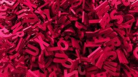 Dispersión del texto del color rojo 3d Fotos de archivo libres de regalías