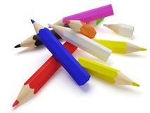 dispersion de crayons Photo stock