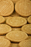 Dispersion des biscuits de lait doux Photo stock
