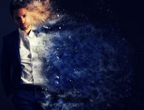 The dispersion effect of a stylish man Stock Images