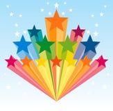 Dispersione chiara della stella Fotografie Stock Libere da Diritti
