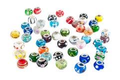 Dispersione delle perle di vetro di Murano Immagini Stock