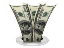 Dispersore del dollaro Immagine Stock