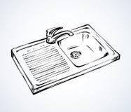 Dispersore di cucina Illustrazione di vettore illustrazione di stock