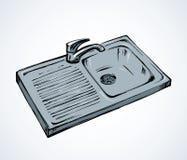 Dispersore di cucina Illustrazione di vettore royalty illustrazione gratis