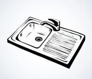 Dispersore di cucina Illustrazione di vettore illustrazione vettoriale