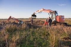 Dispersori dell'escavatore Immagine Stock Libera da Diritti