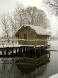 Dispilio Ecomuseum im Winter Lizenzfreie Stockfotografie