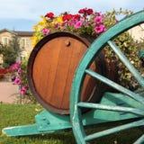Displa фестиваля сбора бочонка вина виноградника деревни французского вина Стоковая Фотография RF