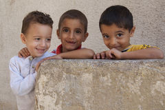 Displaced Iraq Refugee Children Stock Image