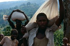 Displaced people in Burundi. Stock Photography