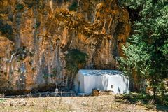 Displaced village Samaria in Samaria Gorge, Greece. Displaced village Samaria in Samaria Gorge in central Crete, Greece Royalty Free Stock Photography
