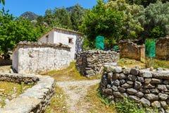 Displaced village Samaria in Samaria Gorge, Greece Stock Images