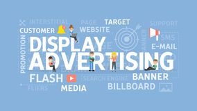 Display advertising concept. Royalty Free Stock Photos