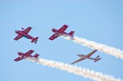 Display of aerobatic group Stock Photo