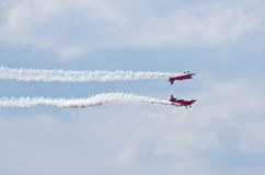 Display of aerobatic group Stock Photos