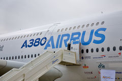 Display by the Airbus A380 at the International Av Stock Photos