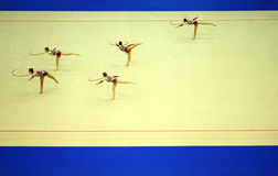 Display of artistic gymnastics hoop Stock Photography