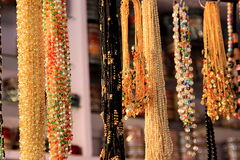 Display of Bead Necklaces Stock Photography