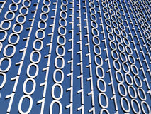 Display of binary numbers Royalty Free Stock Images