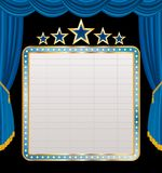 Display on blue stage Stock Images