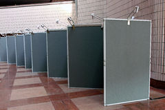 Display Board. On Exhibition Hall stock images